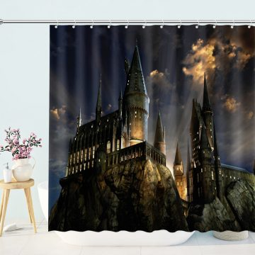 Mysterious Fantasy Castle Shower Curtain