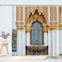 Mystic-Ancient-Shrine-Church-Shower-Curtain