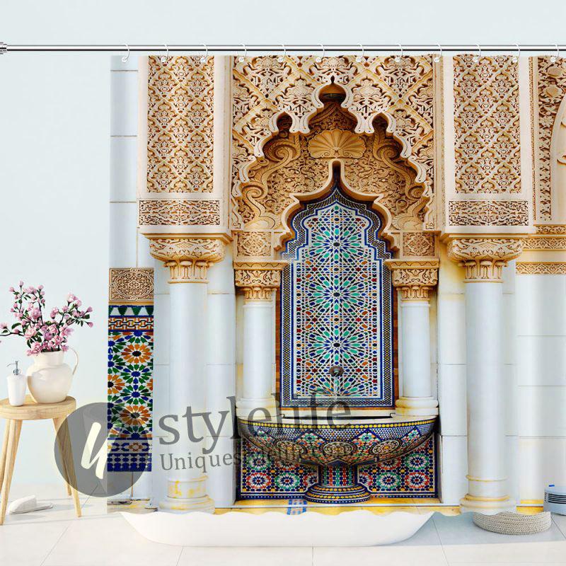 Mystic Ancient Shrine Church Shower Curtain
