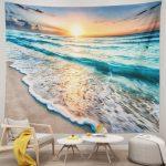 Ocean Sunset Beach Tapestry Wall Hanging
