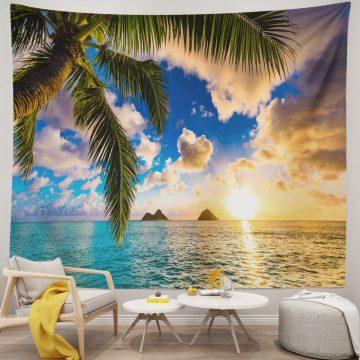 Ocean Tapestry Beautiful Sunrise Hawaii