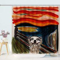 Portrait-of-Meerkat-Shower-Curtain
