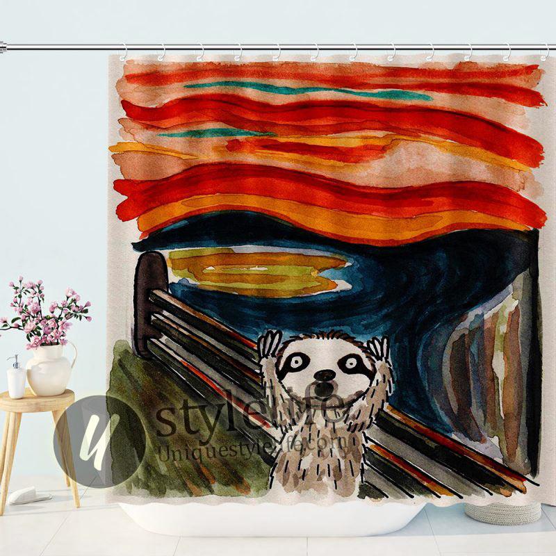 Portrait of Meerkat Shower Curtain