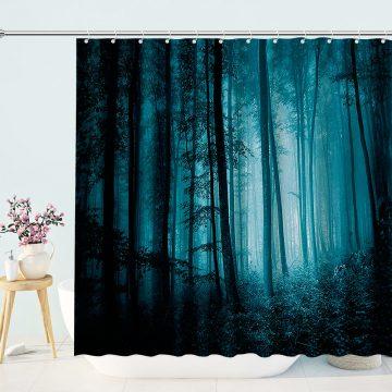 Primeval Forest Landscape Shower Curtain