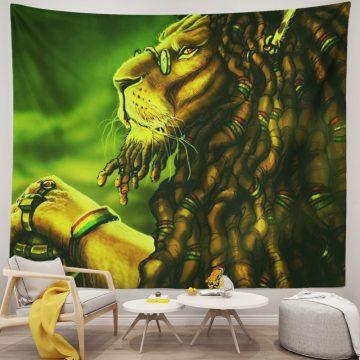 Reggae Rasta Cool Lion Crown Mandala Unique Tapestries