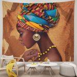Tapestry Art Girls Traditional African Women Black