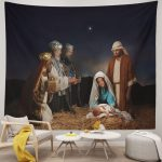 Three Wise Men Visited the baby Jeaus Cute Tapestry