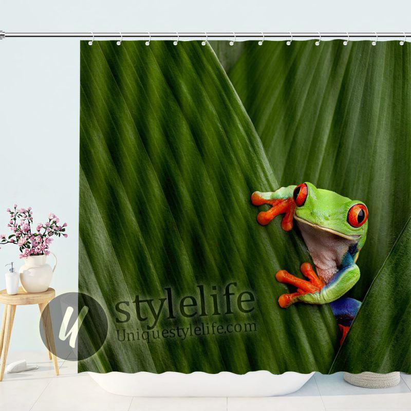Tropical Rainforest Frog Shower Curtain