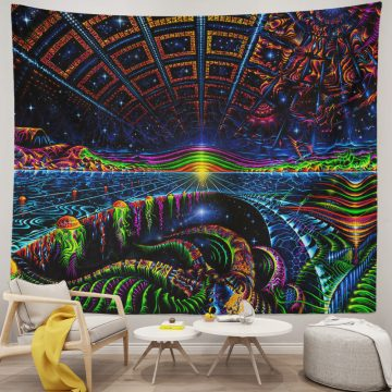 Ultraviolet Uniqued Trippy Tapestry Wall Hanging