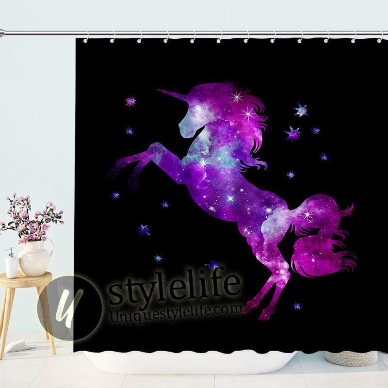 Unicorn Horse Constellation Shower Curtain