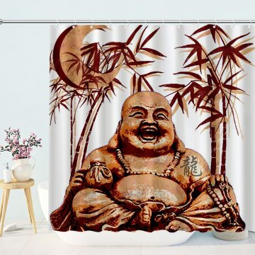 Vintage Chinese Gods Bath Shower Curtain