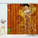 Vintage Lady in Gold Shower Curtain