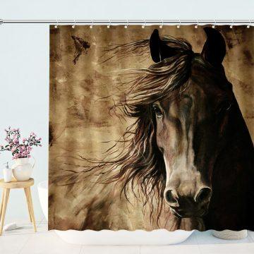 Vintage Wilderness Horse Shower Curtains