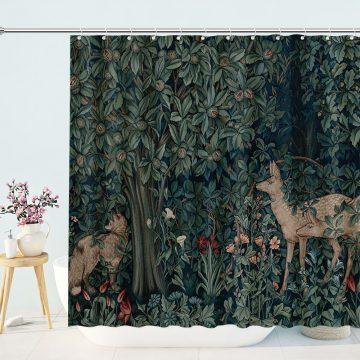 William Morris Greenery Shower Curtain