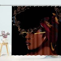 Women-Beauty-Sexy-Lovely-Black-African-shower-curtain-2