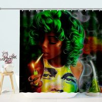 Women-Beauty-Sexy-Lovely-Black-African-shower-curtain