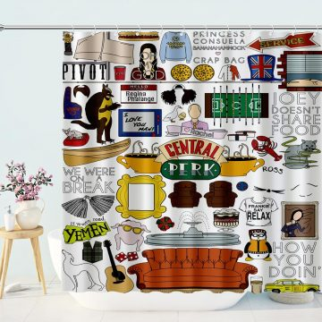 Friends TV Show Collage Custom Shower Curtain