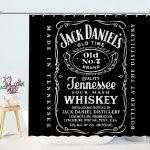 Jack Daniels Jennessee Whiskey Bathroom Shower Curtain
