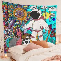 Cool-Astronaut-Psychedelic-Tribal-Ethnic-Flowers-Abstract-Doodle-Tapestry-02
