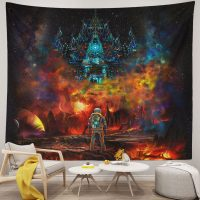 Cool-Lost-Astronaut-Uv-Blacklight-Fluorescent-Psychedelic-Tapestry