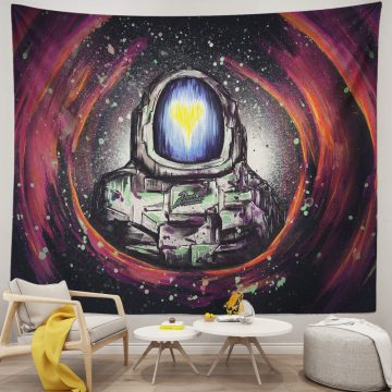Galaxy Space Dead Astronaut Dope Tapestry