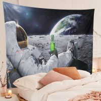 Handmade-Astronaut-On-The-Moon-Drinking-beer-Tapestry-02