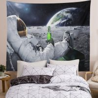 Handmade-Astronaut-On-The-Moon-Drinking-beer-Tapestry-03
