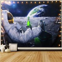 Handmade-Astronaut-On-The-Moon-Drinking-beer-Tapestry-05