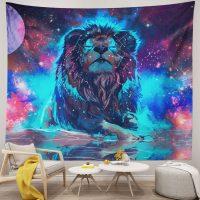 Handmade-Starry-Fantasy-Galaxy-Lion-Tapestry