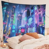 Japanese-Tapestry-Cyber-Punk-Cityscape-Wall-Tapestry-02
