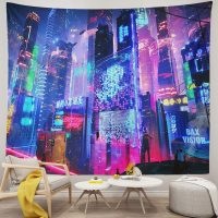 Japanese-Tapestry-Cyber-Punk-Cityscape-Wall-Tapestry