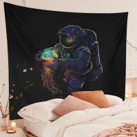 Large-Astronaut-Jellyfish-Tapestry-Trippy-Space-Wall-Galaxy-Wall-Hanging-02