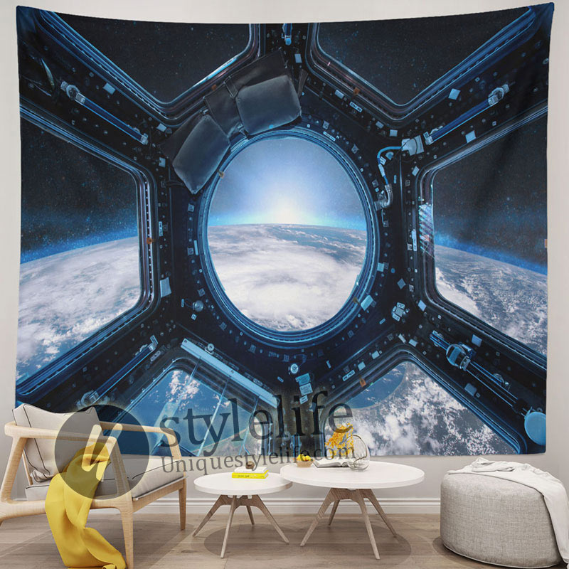 Large Space Tapestry Astronaut Wall Hanging Art