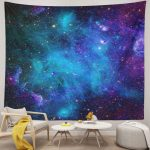 Mysterious Nebula Starry Galaxy Universe Space Tapestry