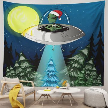 New alien Christmas stock illustration Space Tapestry