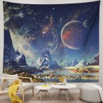Planet Galaxy Tapestry Psychedelic Vintage Home Decor