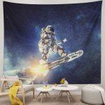 Rocket Space Wall Decor Art Astronaut Wall Hanging