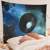 Spaceship-Tapestry-Alien-UFO-Flying-Blue-Starry-Sky-Forest-Tapestry-02