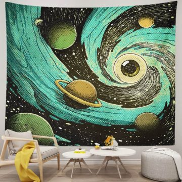 Universe Galaxy Planet Space Tapestry