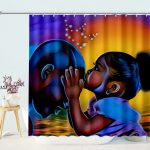 African American Father Daughter Love Shower Curtains