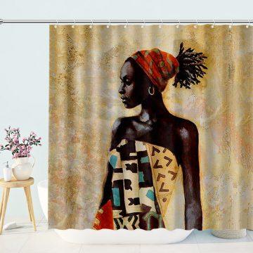 African Women Art Painting Shower Curtain