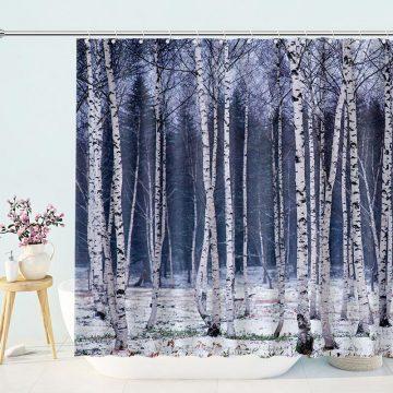 Birch Trees Shower Curtain
