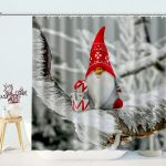 Christmas Elf Tomte Gnomes Winter Shower Curtain