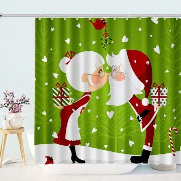 Classic Lover Christmas Shower Curtains