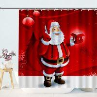 Cute-Santa-Merry-Christmas-Shower-Curtain-1