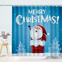 Cute-Santa-Merry-Christmas-Shower-Curtain-3