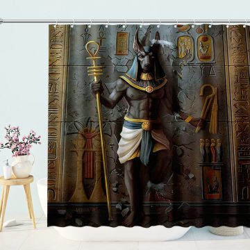 Egypt Anubis Egyptian Culture King Shower Curtain