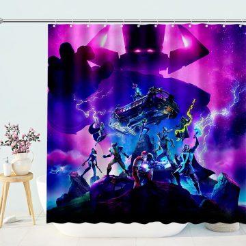 Fortnite Galactus Superheroes Shower Curtain