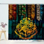 Harry Potter Inspired House Banner Shower Curtain