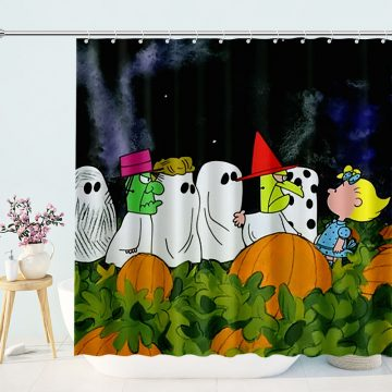 Its the Great Pumpkin Charlie Brown Shower Curtain